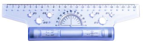 Plastic ruler Stock Images