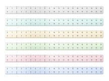 Plastic Rulers. Transparent plastic rulers on white background Royalty Free Stock Photo