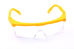 Plastic safety goggles isolated Royalty Free Stock Photos