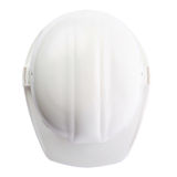 Plastic safety helmet over isolated white background Stock Photo