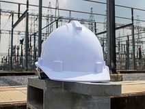 Plastic safety helmet Stock Photos