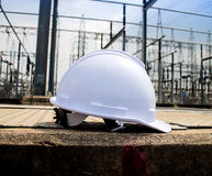 Plastic safety helmet Royalty Free Stock Photography