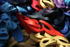 Plastic Sandals stock foto's