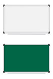 Plastic school board for writing marker and chalk  Royalty Free Stock Photos