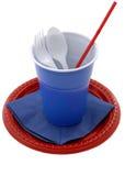 Plastic schotels Royalty-vrije Stock Afbeeldingen