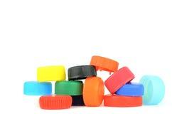 Plastic schroefdeksels Stock Afbeeldingen
