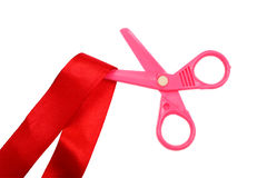 Plastic scissors Royalty Free Stock Photo