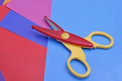 Plastic scissors Royalty Free Stock Image