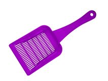 Plastic scoop isolated - violet royalty free stock photo