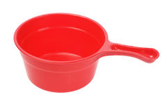 Plastic Scoop. Red Plastic Scoop On White Background Royalty Free Stock Image