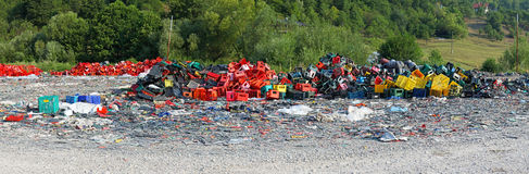 Plastic scrap yard Stock Photos