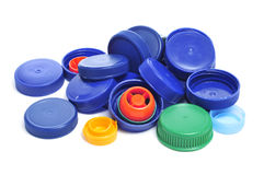 Plastic screw caps Royalty Free Stock Photo