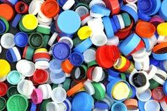 Plastic screw caps Royalty Free Stock Photos