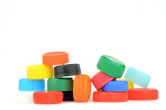 Plastic screw caps Royalty Free Stock Image