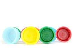 Plastic screw caps Stock Photos