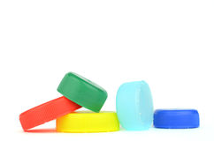 Plastic screw caps Stock Images