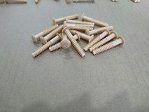 Plastic screws Royalty Free Stock Photography