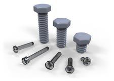 Plastic screws Royalty Free Stock Photo