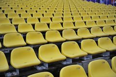 Plastic seat at the stadium Stock Photography