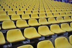 Plastic seat at the stadium Stock Photography