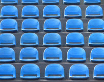 Plastic seats - blue Royalty Free Stock Images