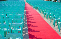 Plastic seats Royalty Free Stock Photo