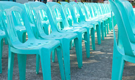 Plastic seats Stock Images