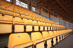 Plastic seats at stadium Royalty Free Stock Photos