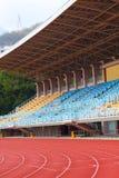 Plastic seats at stadium Royalty Free Stock Image