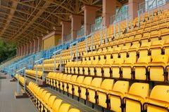 Plastic seats at stadium Royalty Free Stock Images