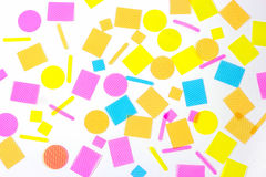 Plastic shapes pieces Royalty Free Stock Images
