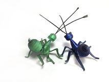 Plastic sheets model of ants Royalty Free Stock Photo