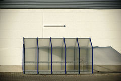 Plastic shelter for shopping baskets Stock Images