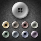Plastic shiny buttons Stock Image