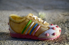 Plastic shoe Royalty Free Stock Images