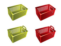 Plastic shopping basket. In 3d Royalty Free Stock Photography