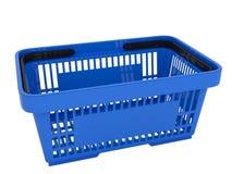 Plastic shopping basket. Double handle portable plastic shopping basket for supermarket. 3d  illustration on white background. Digitally generated image Royalty Free Stock Image