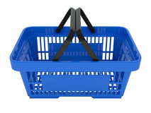 Plastic shopping basket. Double handle portable plastic shopping basket for supermarket. 3d  illustration on white background. Digitally generated image Royalty Free Stock Photos