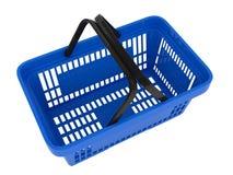 Plastic shopping basket. Double handle portable plastic shopping basket for supermarket. 3d isolated illustration on white background. Digitally generated image Royalty Free Stock Image