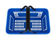 Plastic shopping basket Royalty Free Stock Photo