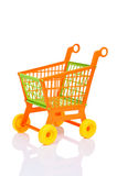 Plastic shopping cart Royalty Free Stock Photos