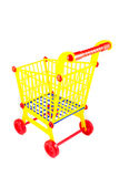 Plastic shopping cart Stock Images