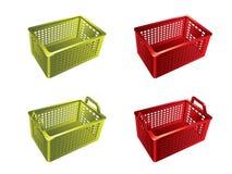plastic shopping för korg Vektor Illustrationer