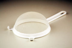 Plastic sieve. With a handle Royalty Free Stock Photos