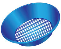 Plastic sieve Stock Photo