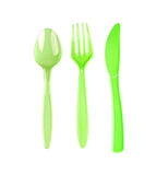 Plastic silverware Stock Photos