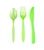 Plastic silverware Stock Photos