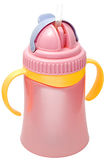 Plastic sippy kop, purper met violette dekking Stock Fotografie