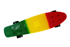 Plastic skateboard isolated on white Royalty Free Stock Image
