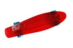 Plastic skateboard isolated on white Royalty Free Stock Photo